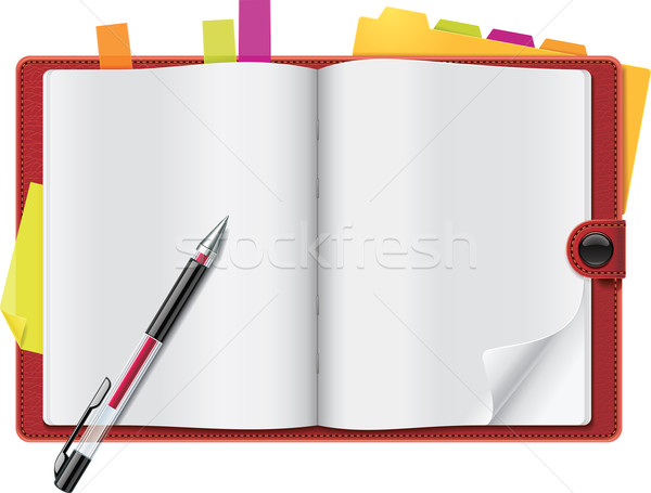 Stock photo: Vector open personal organizer