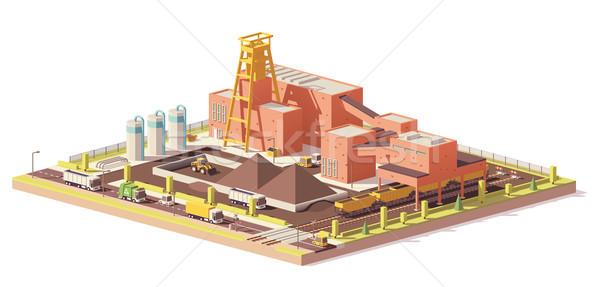 Wektora niski węgiel kopalni podziemnych wydobycie Zdjęcia stock © tele52