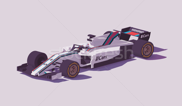 Vector low poly formula racing car Stock photo © tele52