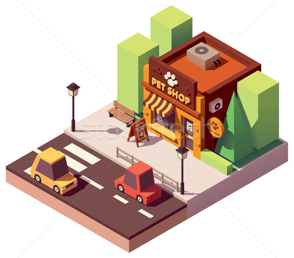 Vector isometric pet store Stock photo © tele52