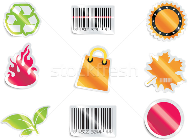 Vector shopping icon set and elements. Part 6 Stock photo © tele52