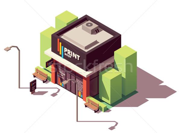 Vector isometric copy and print shop Stock photo © tele52
