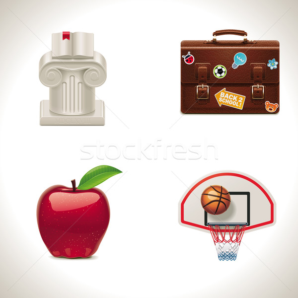 Vector school icons. Part 4 Stock photo © tele52