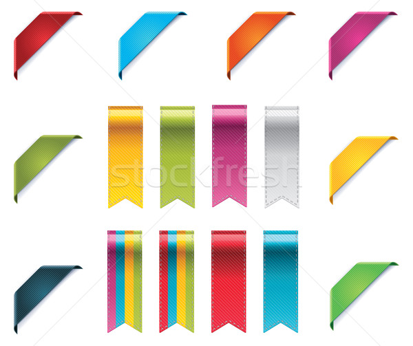 Vector ribbons set Stock photo © tele52