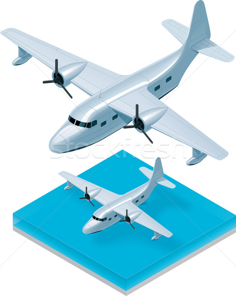 Vector isometric seaplane Stock photo © tele52