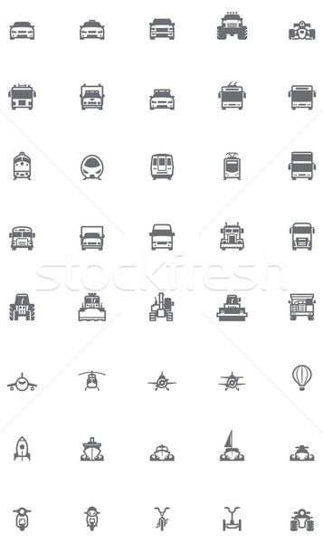 Vector transport icon set Stock photo © tele52