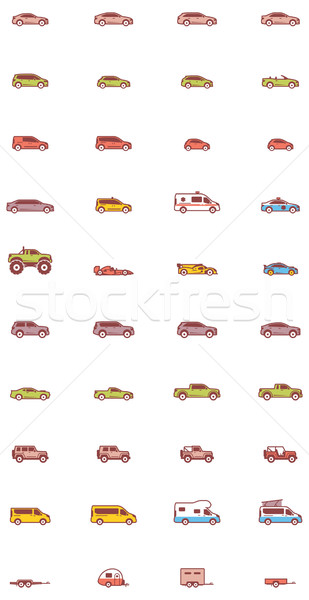 Vector car icons Stock photo © tele52