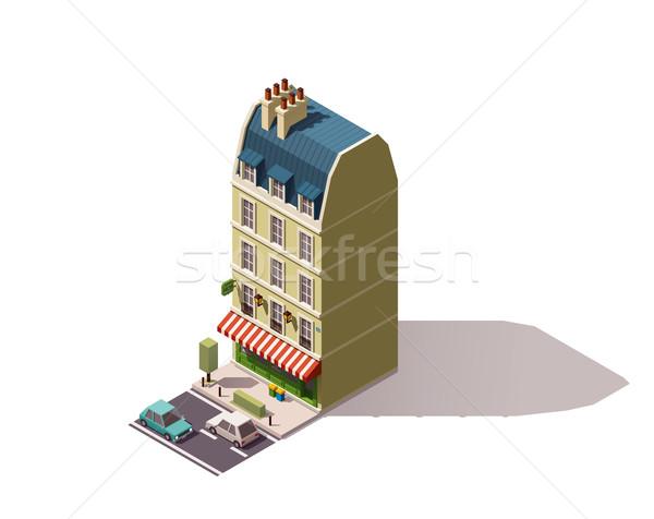 Stock fotó: Vektor · izometrikus · Párizs · épület · város · utca