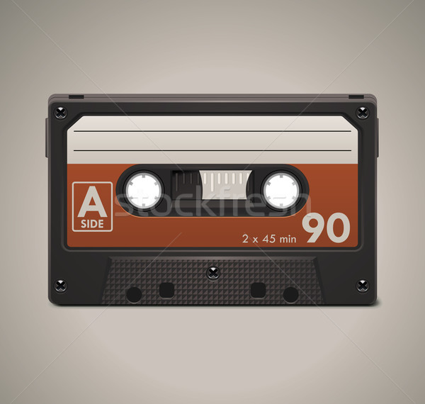 Vector de audio cassette cinta retro Foto stock © tele52