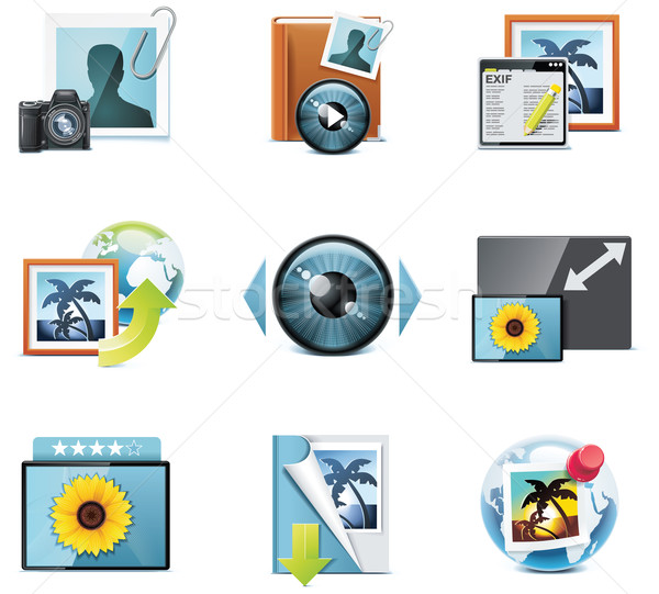 Vector photography icons. Part 4 Stock photo © tele52