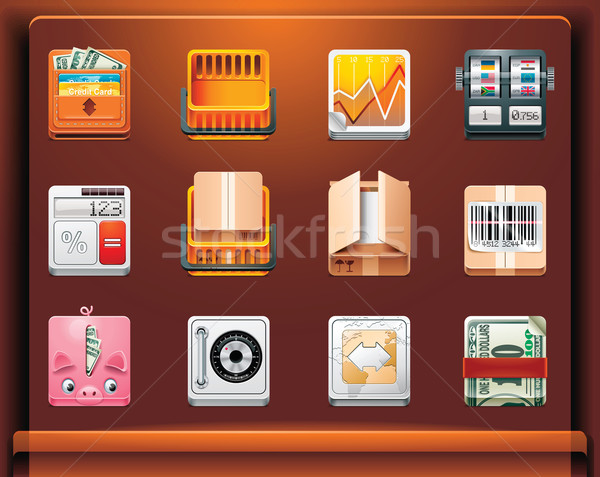 Shopping and money icons Stock photo © tele52
