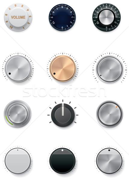 Vektor szett részletes irányítás különböző színek Stock fotó © tele52