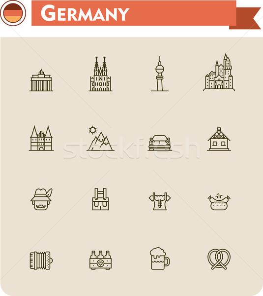 Foto stock: Alemanha · viajar · conjunto · cerveja
