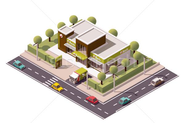 Vector isometric bank icon Stock photo © tele52