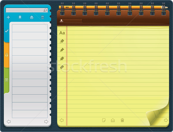Vector notepad template (horizontal) Stock photo © tele52