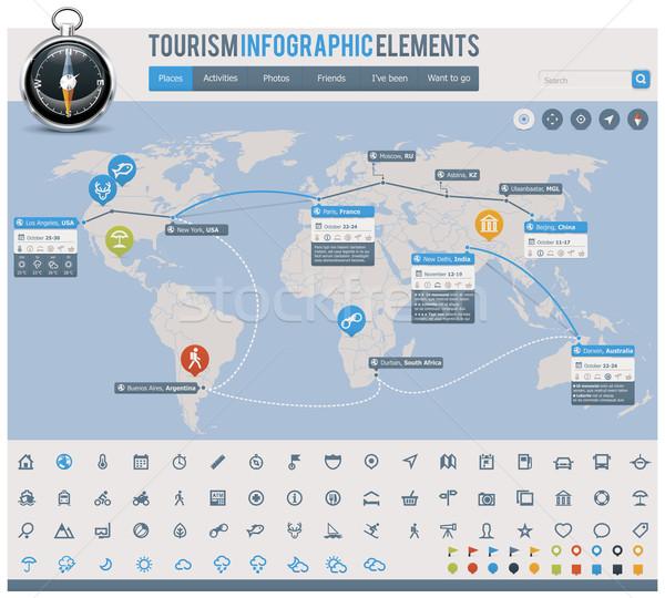 Tourism infographic elements Stock photo © tele52
