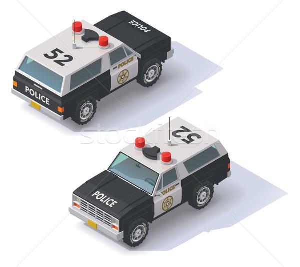 Vector isometric police SUV Stock photo © tele52
