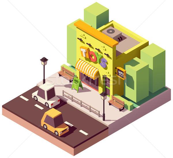 Vektor izometrikus játék bolt üzlet ház Stock fotó © tele52