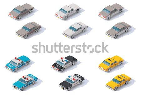 Vector isometric transport. Trucks Stock photo © tele52