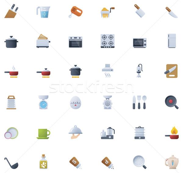 Cooking icon set Stock photo © tele52