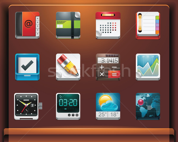 Mobile devices apps/services icons Stock photo © tele52