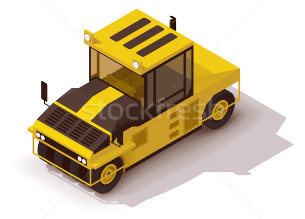 Vector isometric pneumatic road roller Stock photo © tele52