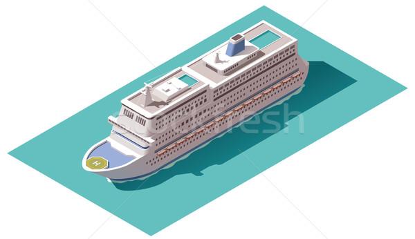 Vetor isométrica navio de cruzeiro ícones cruzeiro mapa Foto stock © tele52