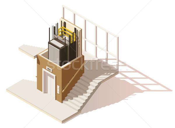 Vektor izometrikus alacsony lift zsakett ikon Stock fotó © tele52