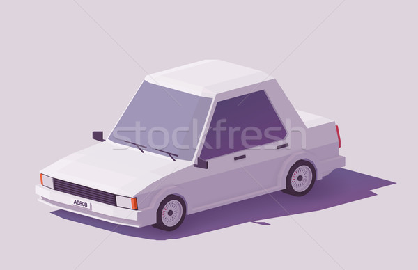 Vector low poly car Stock photo © tele52