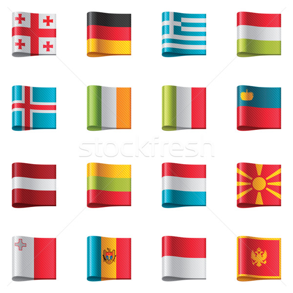 Vector flags. Europe, part 2 Stock photo © tele52