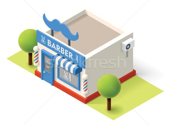 Vector isometric barbershop Stock photo © tele52