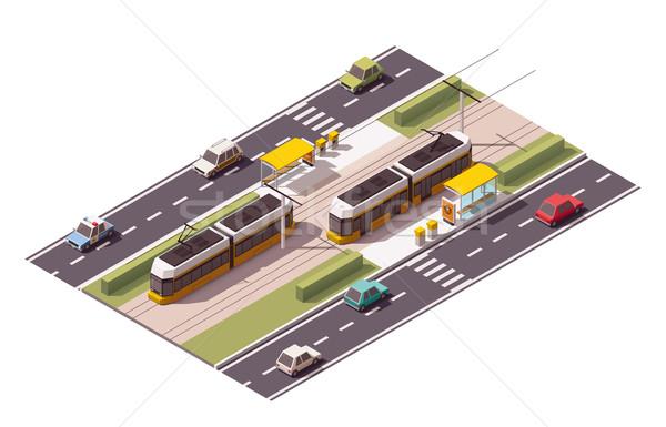 Vector tranvía estación icono coche Foto stock © tele52