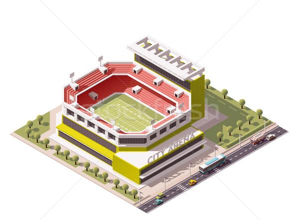 Vektor izometrikus stadion ikon amerikai futball Stock fotó © tele52