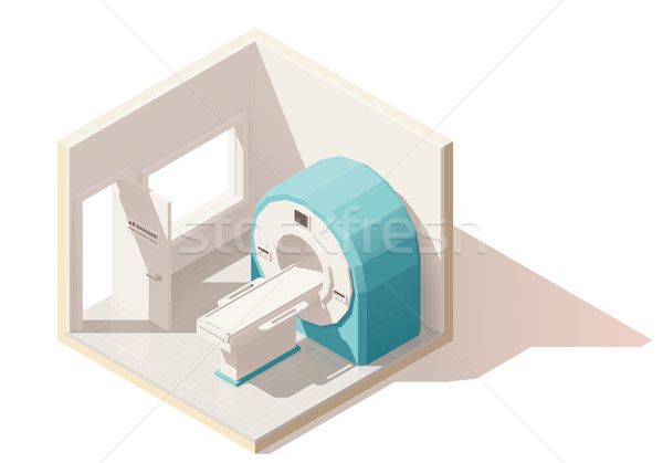 Vector isometric low poly MRI room icon Stock photo © tele52