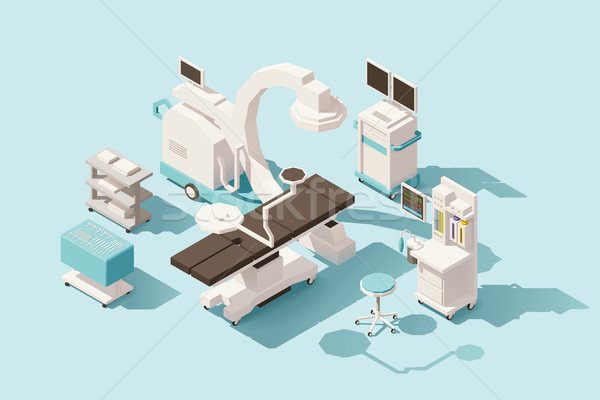 Vector isometric low poly operating room Stock photo © tele52