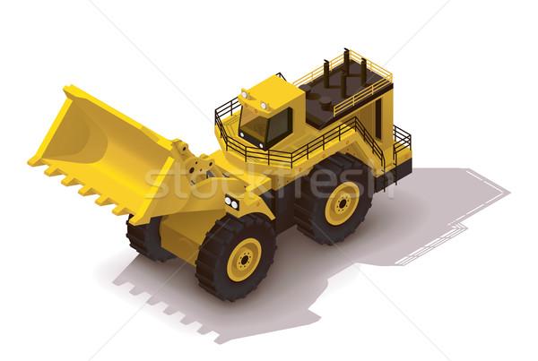 Wektora izometryczny wydobycie koła ikona ciężki Zdjęcia stock © tele52