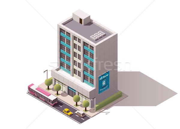 Vector isometric office building Stock photo © tele52