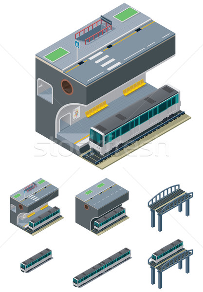 Stock photo: Vector metropolitan icons