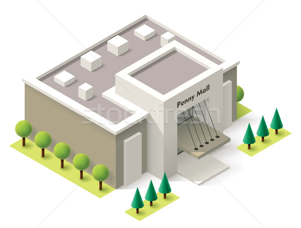 Vector isometric shopping mall Stock photo © tele52