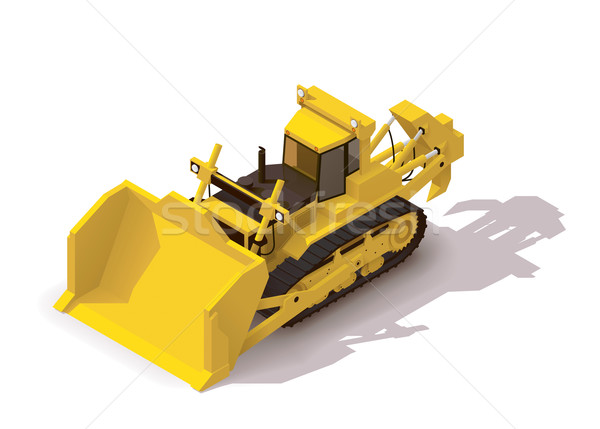 Vector izometrice minerit buldozer icoană constructii Imagine de stoc © tele52