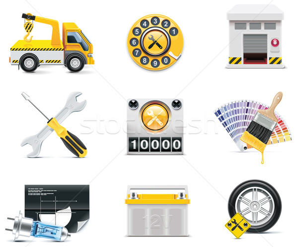 Car service icons. Part 2 Stock photo © tele52