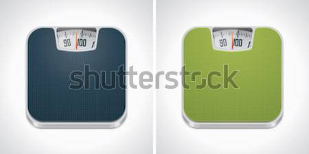 Vector bathroom weight scale icon Stock photo © tele52