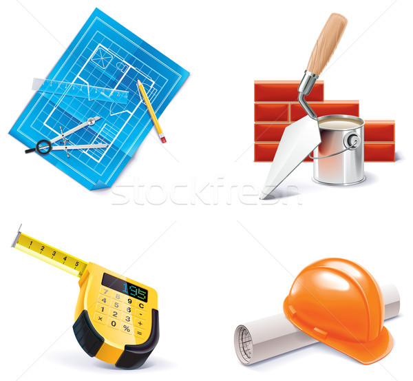 Vector Homebuilding & Renovating icon set. Part 3 Stock photo © tele52
