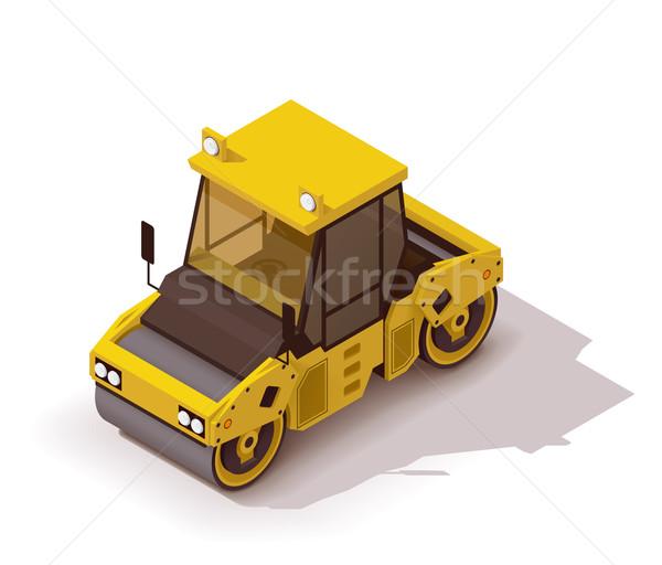 Vektor izometrikus út ikon épület építkezés Stock fotó © tele52