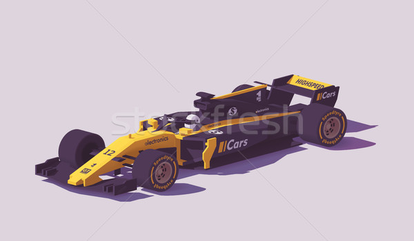 Vecteur faible formule course voiture noir Photo stock © tele52