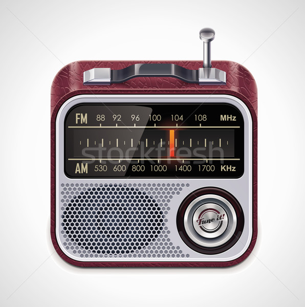 Vector radio xxl icoon gedetailleerd icon retro Stockfoto © tele52