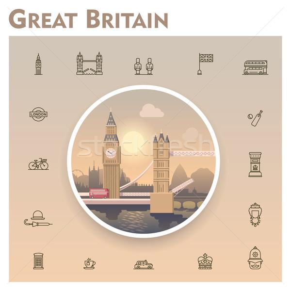 Великобритания путешествия набор Великобритания Сток-фото © tele52