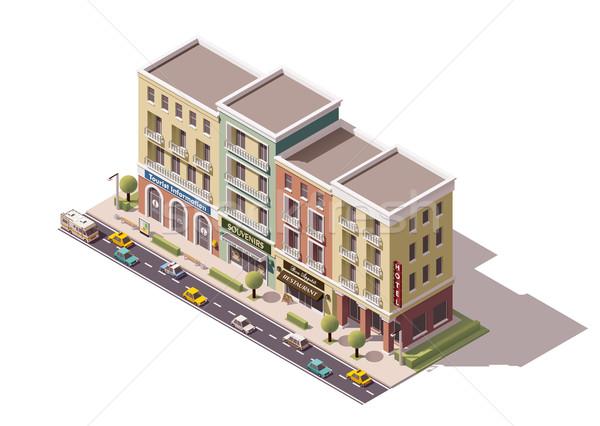 Сток-фото: вектора · изометрический · города · улице · туризма · дома