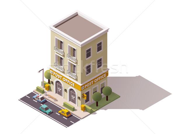 Vecteur isométrique bureau de poste bâtiment icône bureau Photo stock © tele52