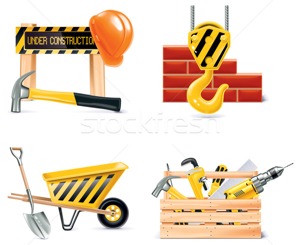 Vector Homebuilding & Renovating icon set. Part 4 Stock photo © tele52